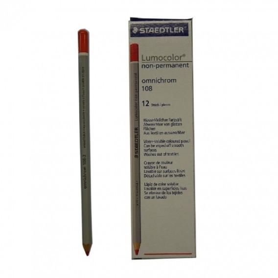 Crayon bois octogonaux permanent noir