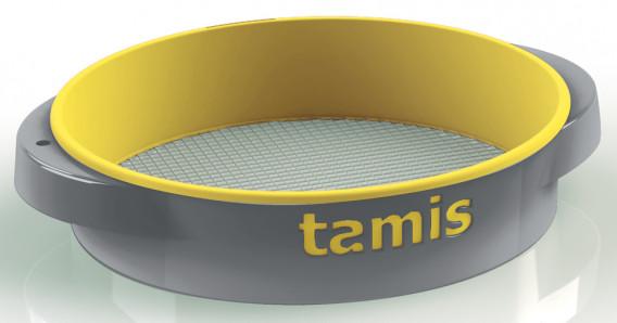 Tamis ABS poignées confort jaune moyen ø 48 H. 10,5 cm maille 10