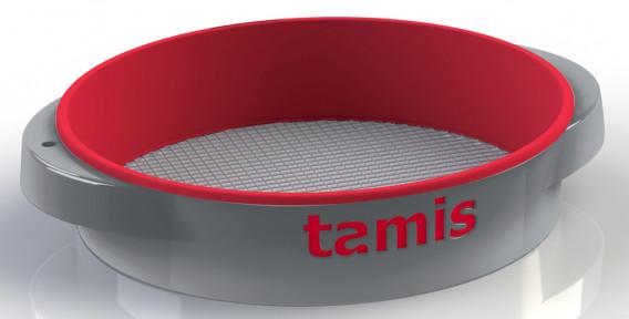 Tamis ABS poignées confort rouge ø 48 H. 10,5 cm maille 14