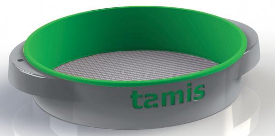 Tamis ABS poignées confort vert ø 48 H. 10,5 cm maille 4