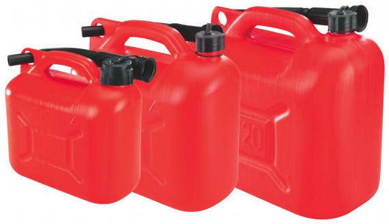 Jerrican plastique + bec verseur 10 litres