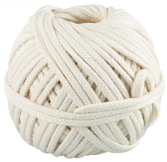 Corde tressée coton 100 Grs ø 1,5 mm x 55 m