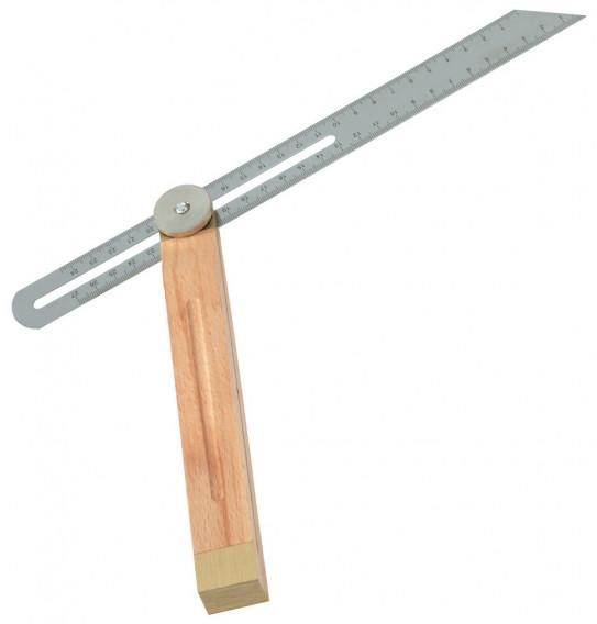 Fausse équerre bois / acier 30 cm