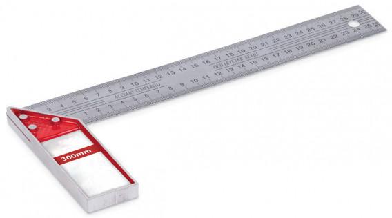 Equerre de menuisier droite avec onglet 25 cm
