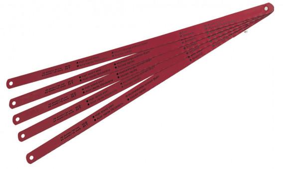 5 Lames de scie à métaux «HSS» 300 mm
