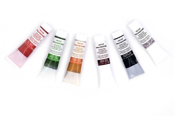 6 colorants en tube 30ml