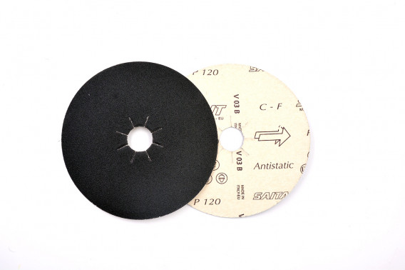 Disque papier abrasif Ø140 gr.40 étoilé