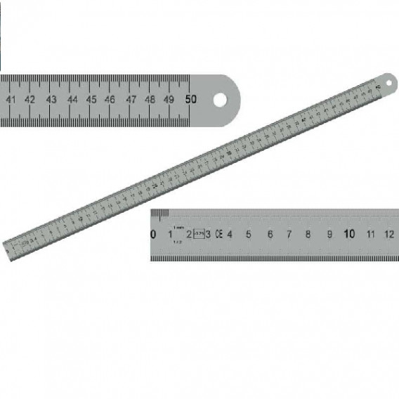 Réglet inox 50cm