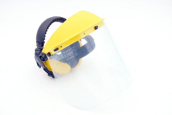 Visière de sablage jaune