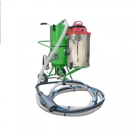 Sableuse à recyclage roue gonflable